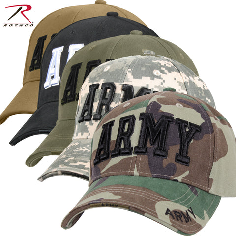Ballcap - Deluxe Army Embroidered Low Profile Insignia