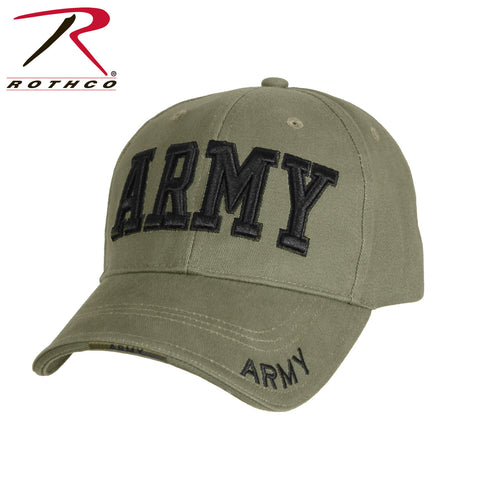 b77065e3aac Rothco Deluxe Army Embroidered Low Profile Insignia Cap - OD (R-9508) -