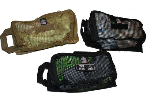 SALE Tactical Mesh Zippered Pouch - Hook & Loop Fastener