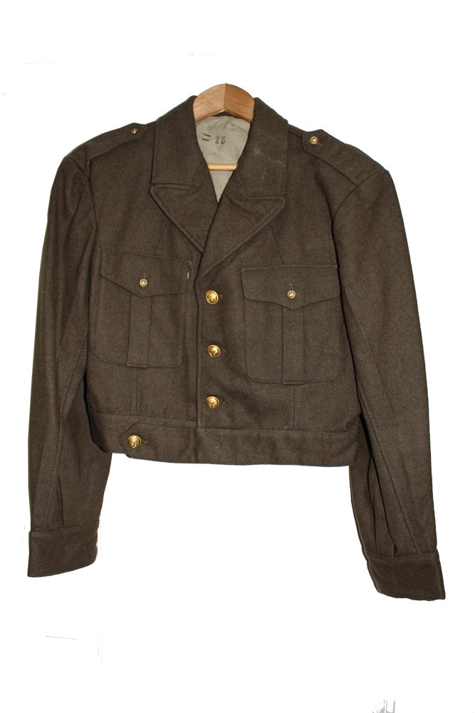 SALE Vintage WWII Navy Ike Jacket with Gold Navy Buttons (989HWS-NAVY)