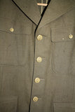 "SALE Vintage 1940""s WWII US Army Sergeant Jacket - Green"