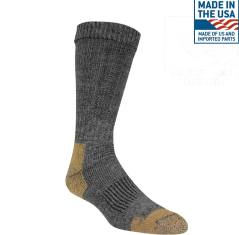 Carhartt Socks - Merino Wool Comfort-Stretch Steel Toe - Charcoal Heather