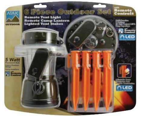 6 Piece Outdoor Set (Tent Lighting) (ALL-390) - Hahn's World of Surplus & Survival