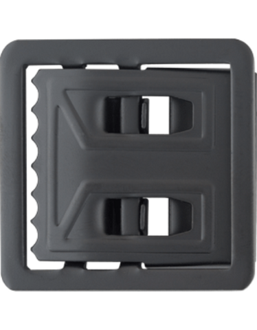 The Supply Room Black Metal Utility Buckle (Open Face) (TSR-BM-109) - Hahn's World of Surplus & Survival
