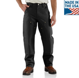 Carhartt Pants - Firm Duck Double-Front Work Dungaree - Black