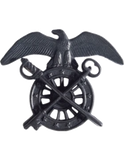 Badge - U.S. Army - Black Metal Officer Branch of Service Insignias