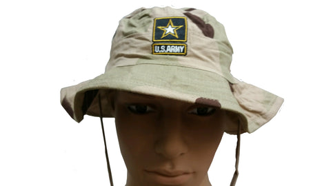 Boonie Hat - Army (Logo) - 3-Color Desert