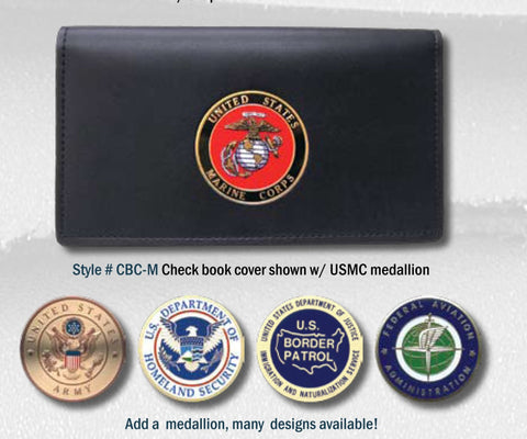 Perfect Fit Checkbook Cover w/Medallion (PF-CBC-M) - Hahn's World of Surplus & Survival