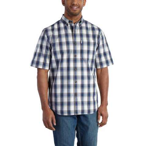 Carhartt Essential Plaid Button-Down Short-Sleeve Shirt (CH-101959) - Hahn's World of Surplus & Survival - 1