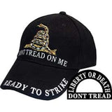 Eagle Emblems Don't Tread on Me Ball Cap - Black (EM-CP00126) - Hahn's World of Surplus & Survival