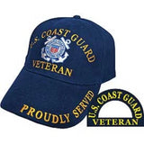 Eagle Emblems Coast Guard Veteran Ball Cap - Navy (EM-CP002780) - Hahn's World of Surplus & Survival