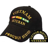 Eagle Emblems Vietnam Veteran Ball Cap - Black (EM-CP00512) - Hahn's World of Surplus & Survival