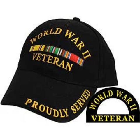 Eagle Emblems World War II Ball Cap - Black (EM-CP00595) - Hahn's World of Surplus & Survival