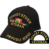 Eagle Emblems Desert Storm Veteran Ball Cap - Black (EM-CP00607) - Hahn's World of Surplus & Survival