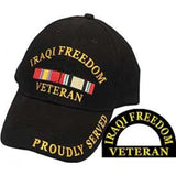 Eagle Emblems Iraqi Freedom Veteran Ball Cap - Black (EM-CP00613) - Hahn's World of Surplus & Survival