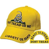 Eagle Emblems Don't Tread On Me Ball Cap - Yellow (EM-CP00702) - Hahn's World of Surplus & Survival
