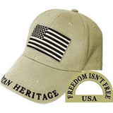 Eagle Emblems American Heritage Ball Cap - Tan (EM-CP00800) - Hahn's World of Surplus & Survival