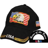 Eagle Emblems USA/Eagle Ball Cap - Black (EM-CP02010) - Hahn's World of Surplus & Survival
