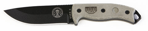 ESEE Black Blade, Plain Edge Knife (5P) - Hahn's World of Surplus & Survival