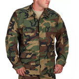 Propper BDU Coat - 4 Pocket 60/40 Cotton/Polyester Twill - Woodland