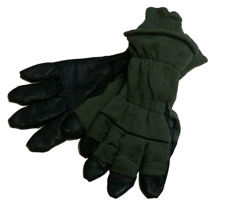 U.S. Military Surplus Cold-Weather Flyer Gloves - OD/BLK - USED (HWS-GLVS-356)