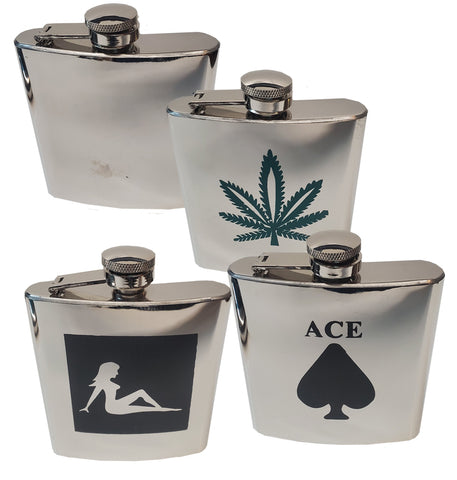 6 OZ Stainless Steel Hip/Kidney Flask