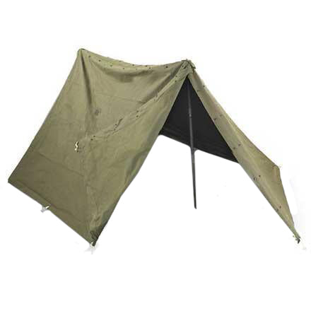 GI Pup Tent - Full w/Pins and Poles (HWS-DLA100-86-F-EE10)