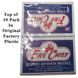 Matches - Vintage Fire Chief Strike Anywhere Survival (HWS-FC-10)