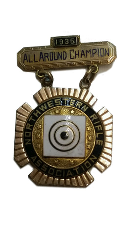 SALE Vintage N.R.A. Northwestern All Around Champion 1935 Gold Medal