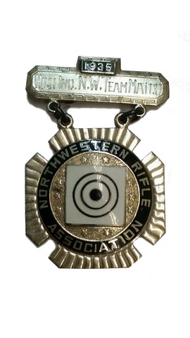 SALE Vintage N.R.A. Northwestern High Ind. N.W. Team Match 1935 Medal (HWS-NRA-35HINWTM)