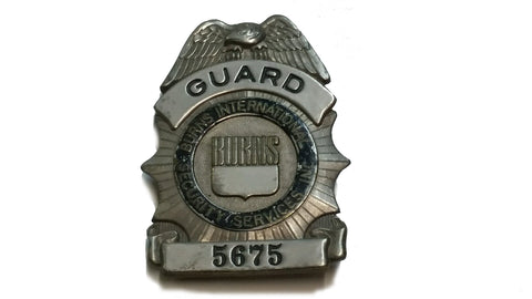 SALE Obsolete Badge - Guard Burns International Security (HWS-VPIN-GBISS-5675)