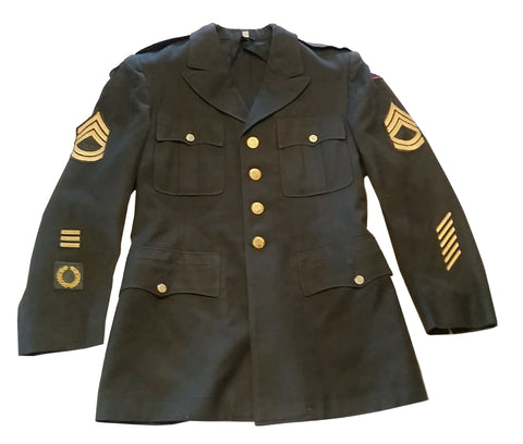 SALE Vintage 1954 US Army Uniform - Army Green