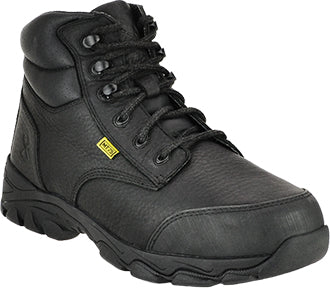"FINAL SALE Iron Age 6"" Steel Toe Metguard Work Boot - Black"