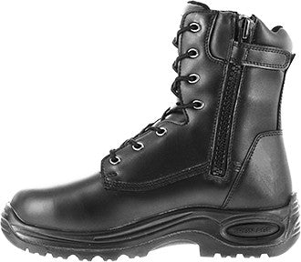 "FINAL SALE Iron Age 8"" Steel Toe Metguard Side-Zipper Work Boot - Black (IA6880)"