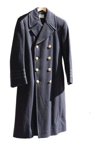 SALE Australian Wool Double Breasted Greatcoat - Black