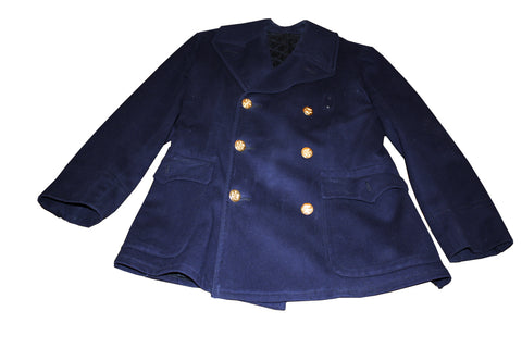 SALE Vintage Peacoat Style Doublebreasted Coat - Dark Blue (928HWS-PSC)