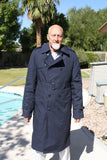 BLOWOUT SALE New Double Breasted Military Trench Raincoat w/Liner - Navy