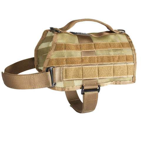 United States Tactical K9 Mesh MOLLE Vest - Coyote