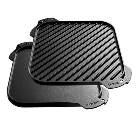 Lodge Single Burner Reversible Grill/Griddle (L-LSRG3) - Hahn's World of Surplus & Survival