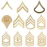 Rank - U.S. Army - Enlisted Gold Metal - Dress Insignias (TSR-NS-101)