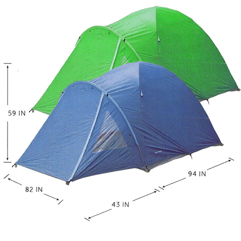 WFS Tent - Outback 3 Person Tent w/Full Vestibule (WFS-795)