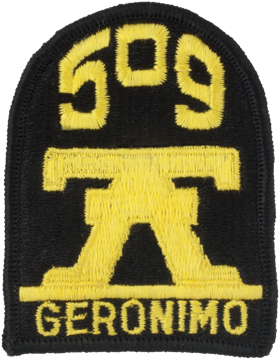 Patch - 0509 Infantry Geronimo - Full Color (TSR-P-0509A-F)