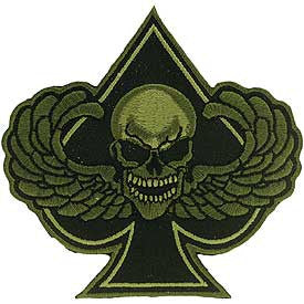 Patch - Death Wing Spade  (Subdued) (EM-PM0951)