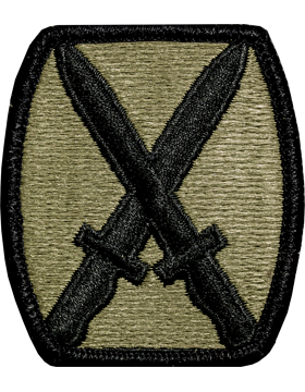 Patch - 10th Mountain Division Scorpion w/ Fastener (TSR-PMV-0010A)