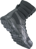 "Reebok Dauntless 8"" Ultra Light Seemless Tactical Boot w/Side Zip Black (RB8720) - Removable Injected EVA Cushion Insert"