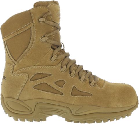 "Reebok Rapid Response 8"" Stealth Boot (RB8850) - Cattle Hide Leather & Ballistic Nylon"