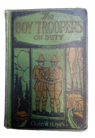 Vintage Book: The Boy Troopers On Duty 1922 (1052MOM-C)
