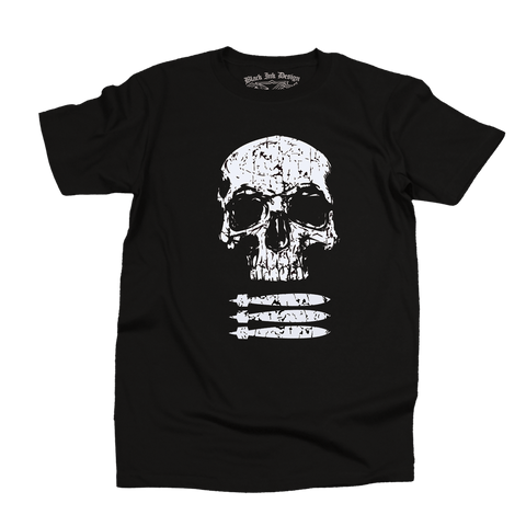 Black Ink Men's Military T-Shirt - Skull and Bombs Patriot (BT-1020) - Hahn's World of Surplus & Survival