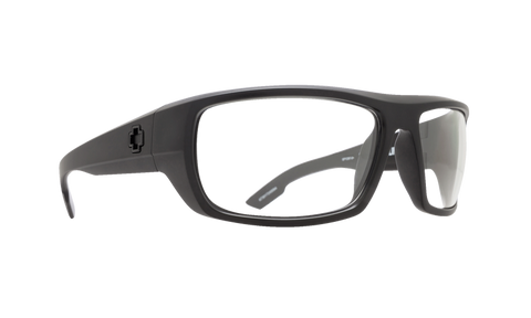 SPY Optic Sunglasses -  Bounty Matte Black ANSI RX  - Clear Lens