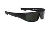 SPY Optic Sunglasses -  Logan Soft Matte Black  - H-Gray Green Lens